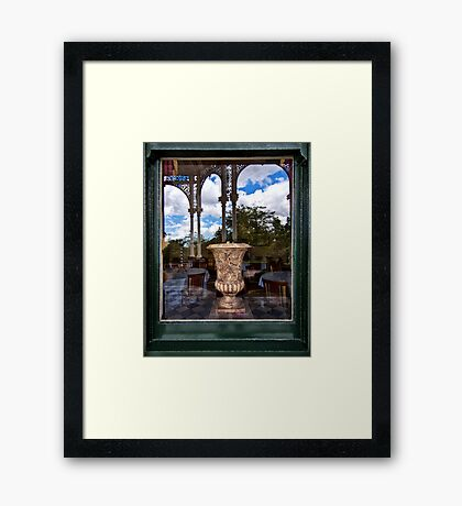 Outside Looking In And Out Framed Print