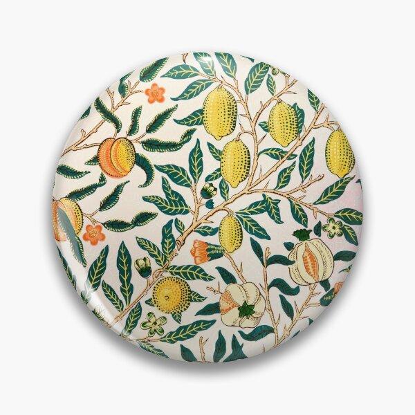 William Morris floral design Pin