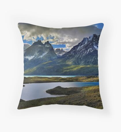 Guanacos and the Massif Throw Pillow