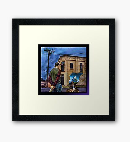 Puzzlement Framed Print