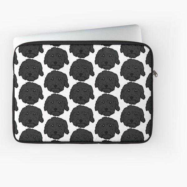 Charcoal Poodle - dark gray Goldendoodle! Black Labradoodle! Adorable doodle teddy bear dog - in chocolate brown, dark brown dog Laptop Sleeve