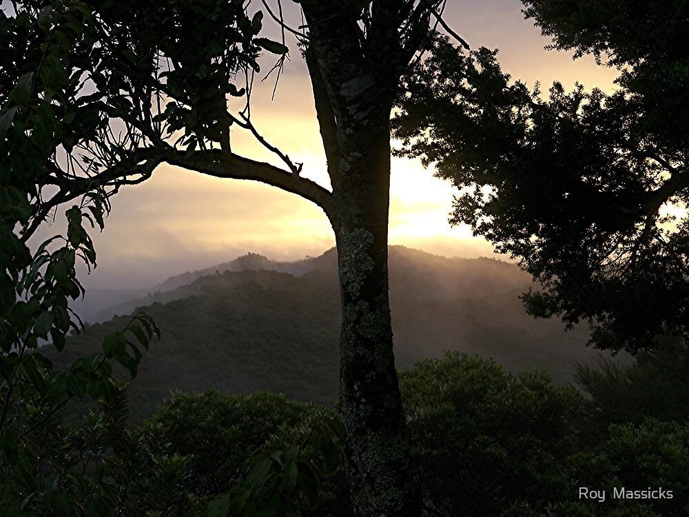 AUTUMN MIST AT SUNSET......! by Roy  Massicks
