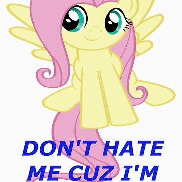 Don't Hate Fluttershy Cuz She's Cute by Luppikun