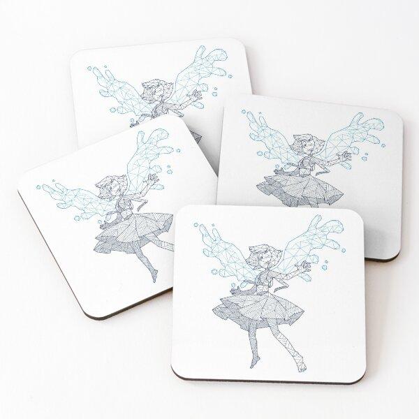Geometric Lapislazuli Coasters (Set of 4)