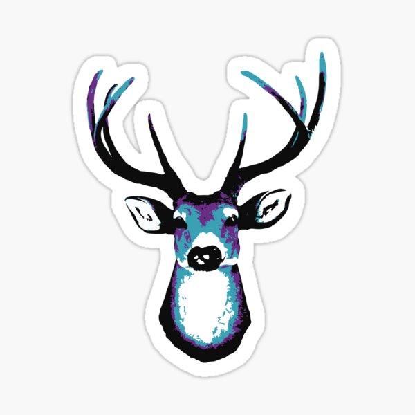 Deer head acid colors. Sticker