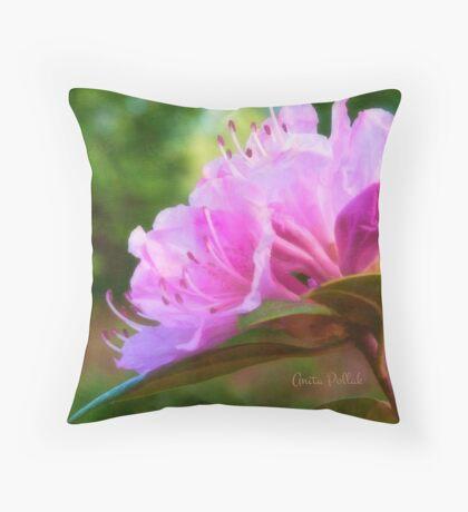 Olga Mezitt Rhododendron Throw Pillow