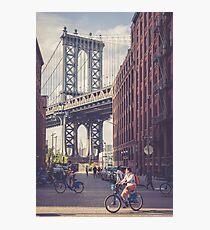 Bike Ride in Dumbo Photographic Print