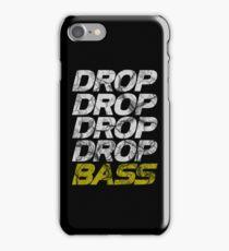 DROP DROP DROP DROP BASS (dark) iPhone Case/Skin