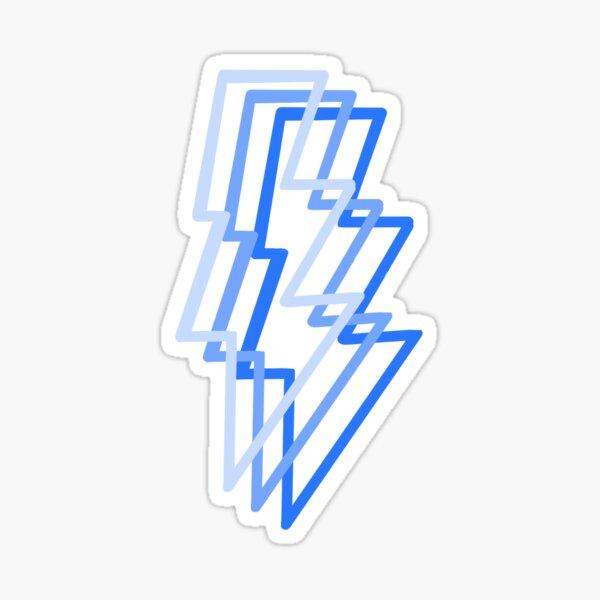 Blue Lightening Bolts Sticker