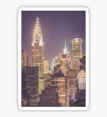 Chrysler Building Dusk Sticker