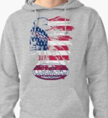 usa indian flag logo by rogers bros Pullover Hoodie