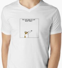 Other things my dog says Men's V-Neck T-Shirt