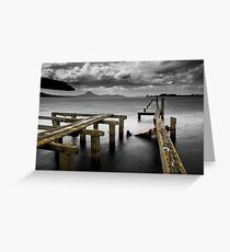 Tokaanu Deadwood Wharf Greeting Card