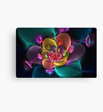 Satin and Sequins Bloom Canvas Print