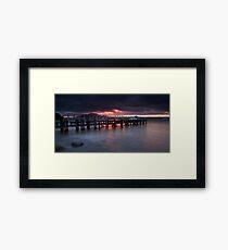 Alberta Street Wharf Dawn Framed Print