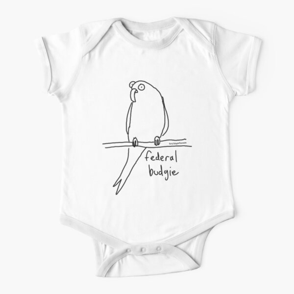 The Federal Budgie Short Sleeve Baby One-Piece
