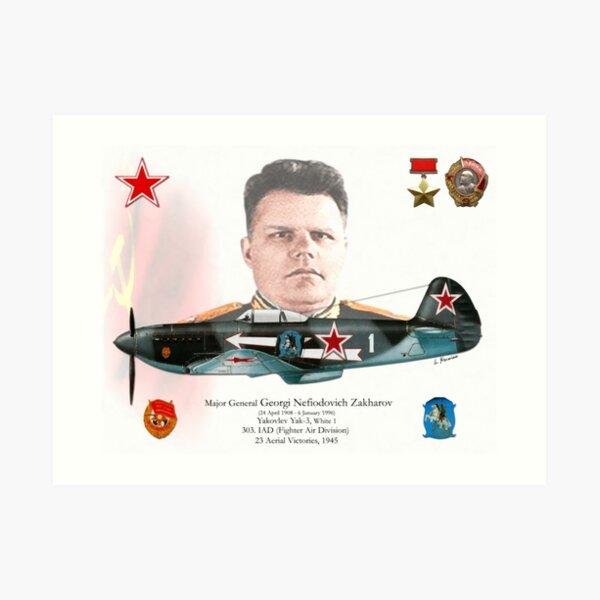 Major General Georgi Nefiodovich Zakharov Art Print