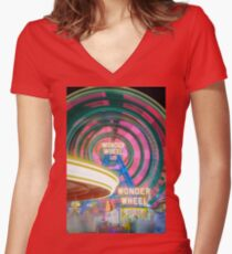 Wonder Wheel Women's Fitted V-Neck T-Shirt
