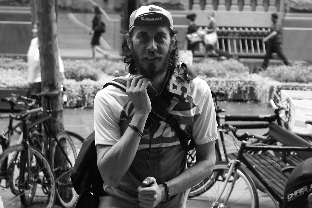 Bike Courier - Martin Place by bouche