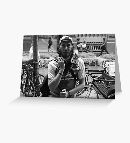 Bike Courier - Martin Place Greeting Card