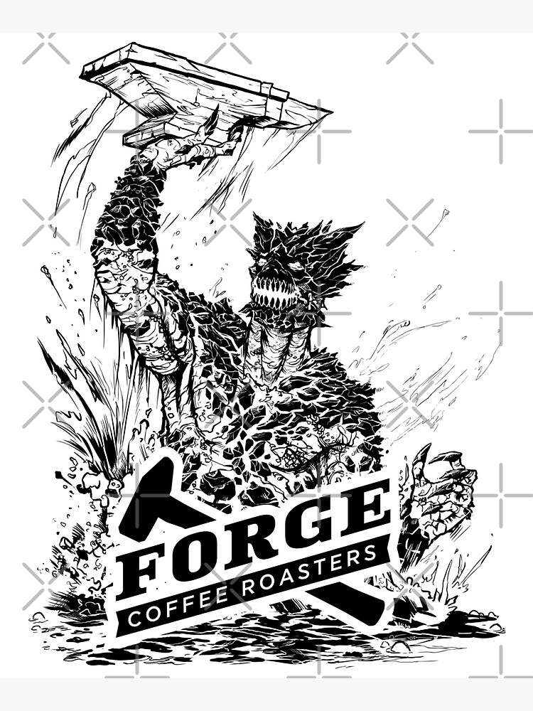 Forge Coffee® Slag Monster Logo Swag by ForgeCoffee