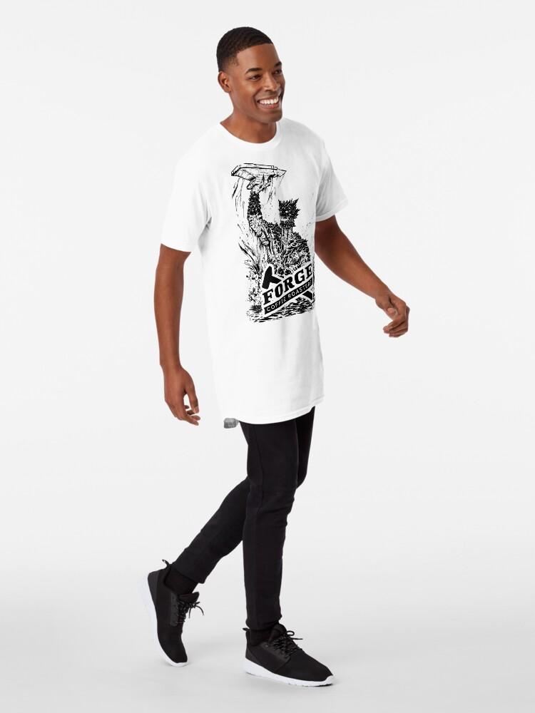 Alternate view of Forge Coffee® Slag Monster Logo Swag Long T-Shirt