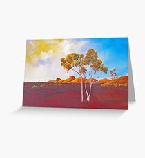 Red Centre Dawn Greeting Card
