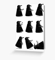 Ministry of Dalek Silly Walks Greeting Card