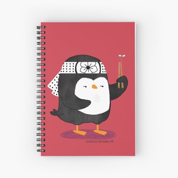 Karate Penguin Spiral Notebook