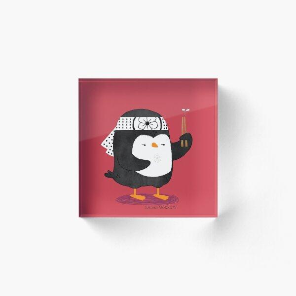 Karate Penguin Acrylic Block