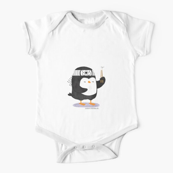 Karate Penguin Short Sleeve Baby One-Piece
