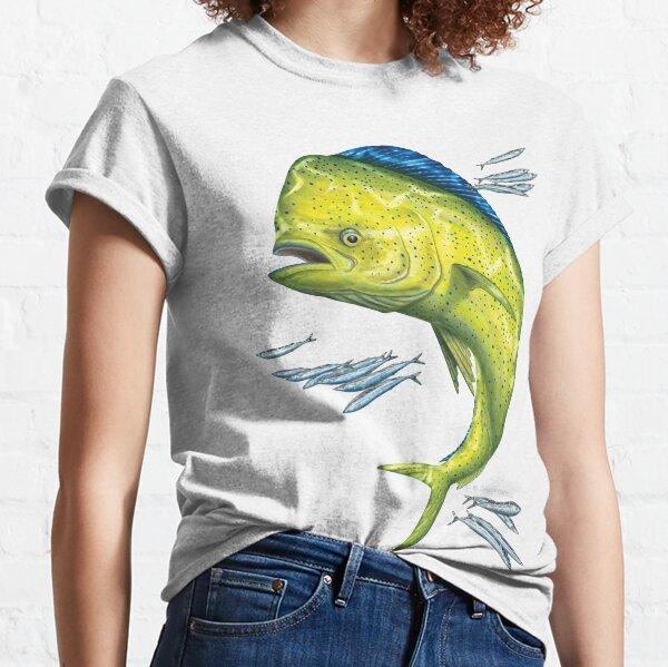 Mahi Mahi and baitfish Classic T-Shirt
