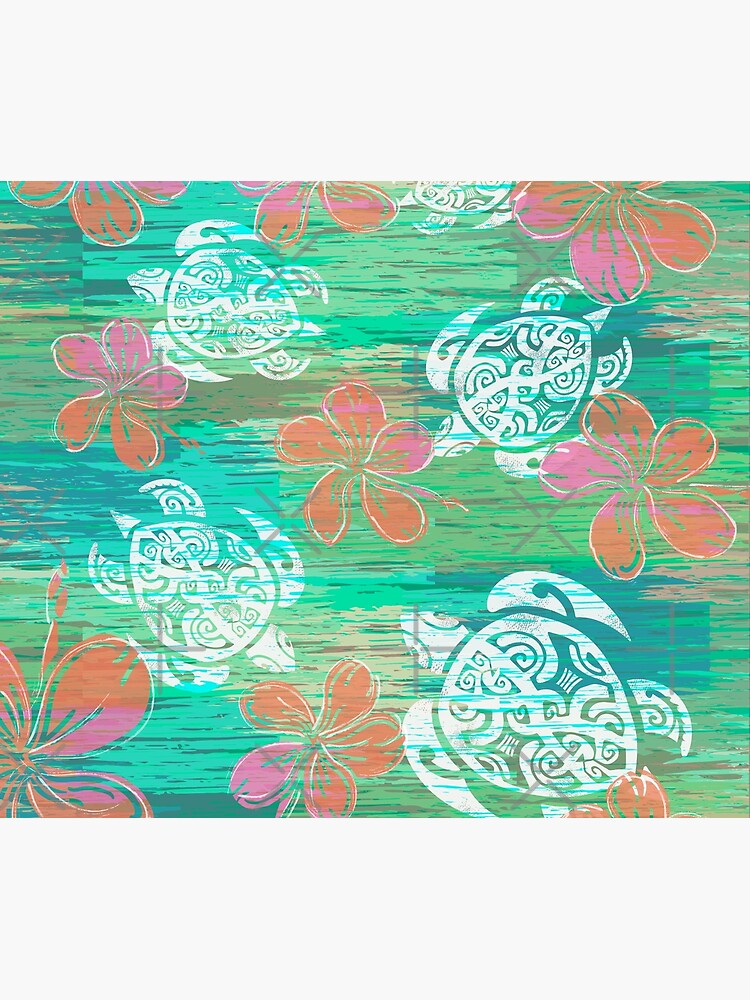 Tribal Turtles Collage by sunnthreads