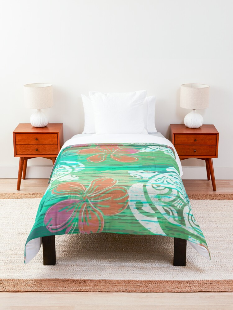 Alternate view of Tribal Turtles Collage Comforter