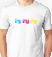 3 Boomboxes: CMY T-Shirt