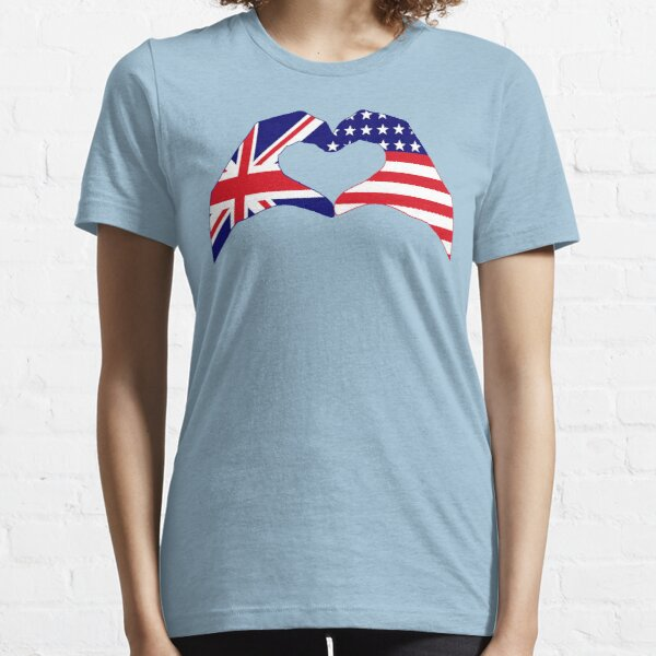 We Heart UK & USA Patriot Flag Series Essential T-Shirt