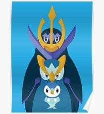 Awkward Penguin Portrait Poster