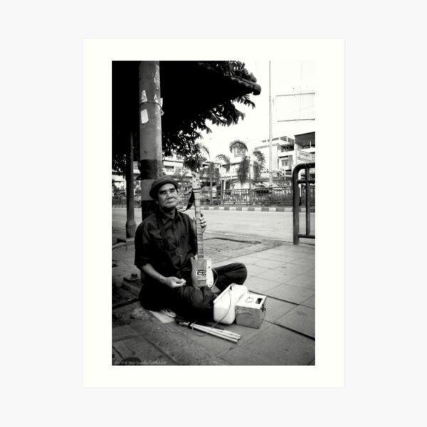 Blind Street Musician Art Print