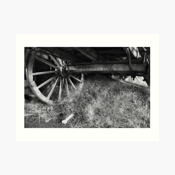 Wagon Wheel - Monte Christo Homestead, Junee NSW Australia Art Print