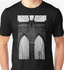 Brooklyn Bridge Profile Unisex T-Shirt