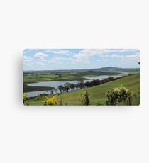 Landscape view of Lake Carcoar Canvas Print