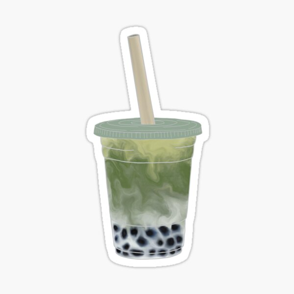 Matcha Boba Bubble Tea Sticker