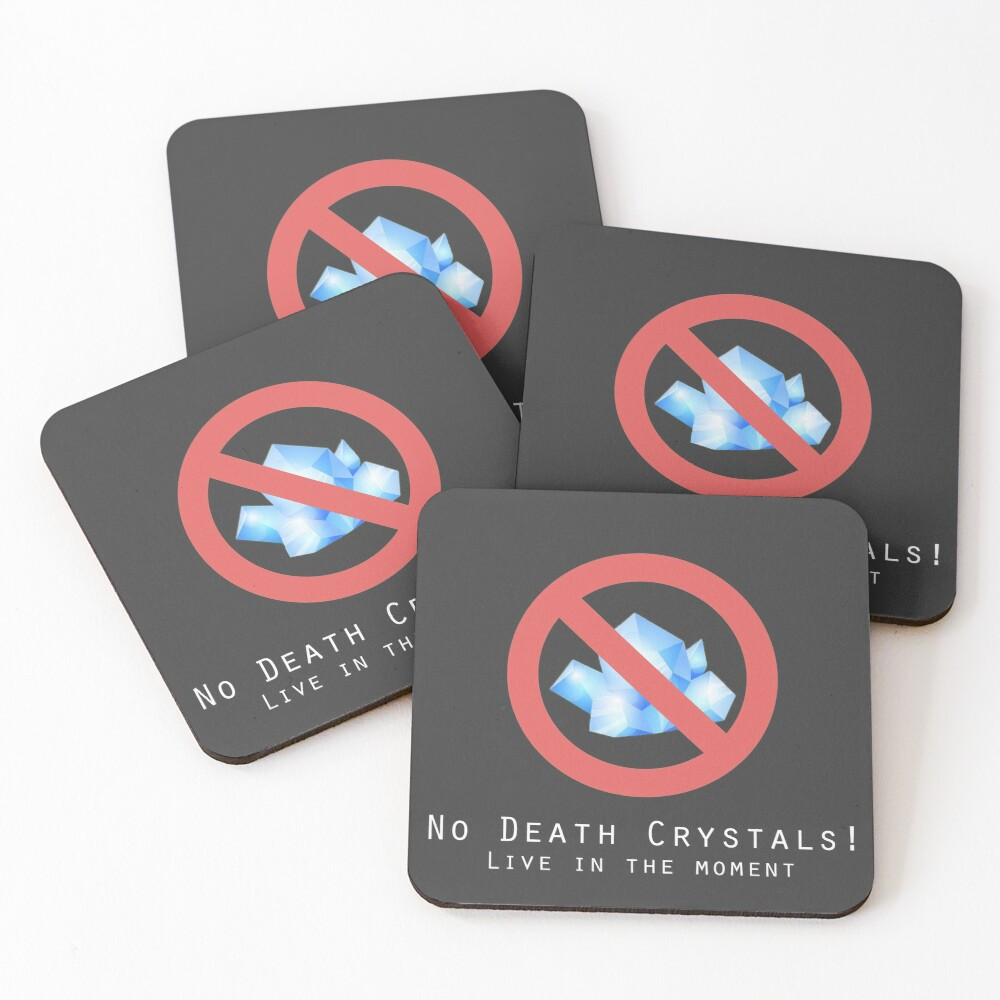 Death Crystals Funny Rick and Morty Coasters (Set of 4)