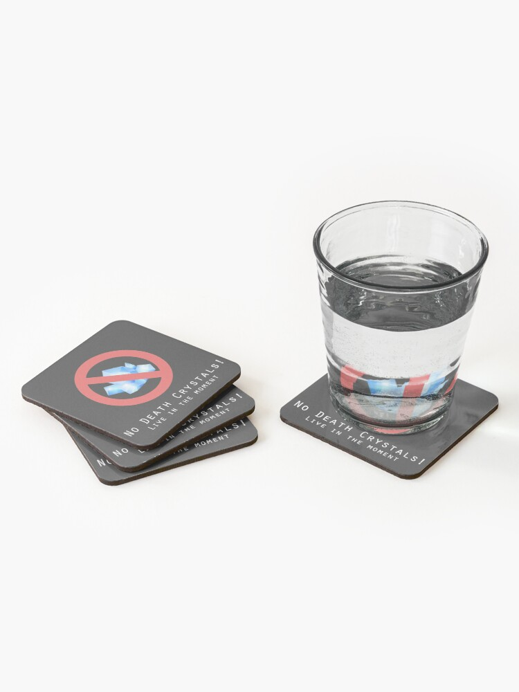 Alternate view of Death Crystals Funny Rick and Morty Coasters (Set of 4)