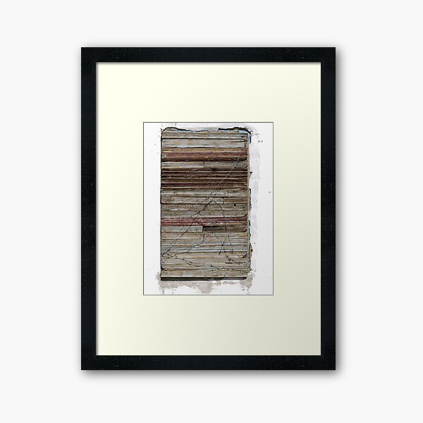 Boarded up - with style (2) Framed Art Print