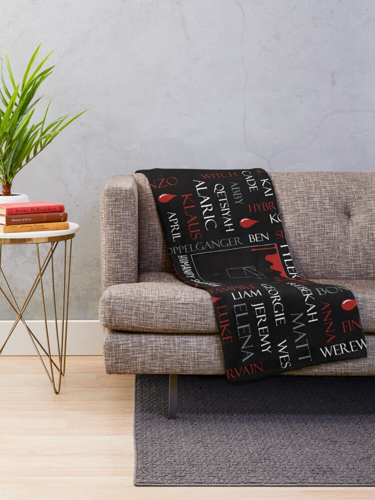 Alternate view of Humanity Switch - TVD Throw Blanket