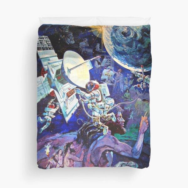 Spaceship Earth Mural Duvet Cover