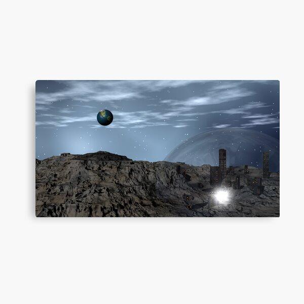 Newt's Lunar Resort for Gridlocked Politicos Canvas Print