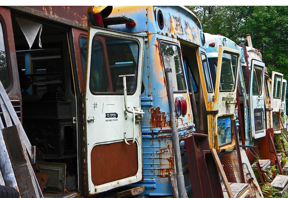 Old School Buses by RebekahShay