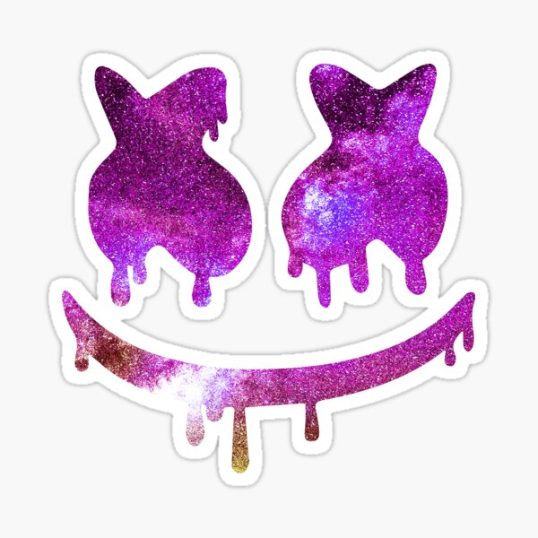 Marshmello space painted Sticker